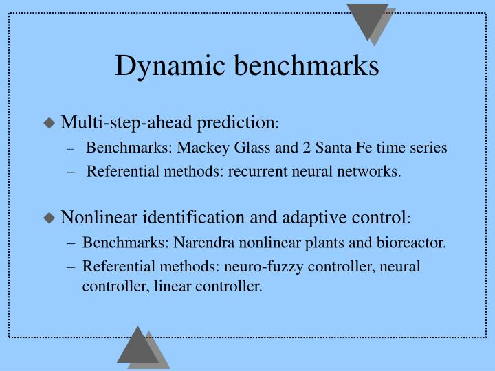 Dynamic benchmarks