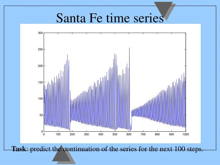 Santa Fe time series