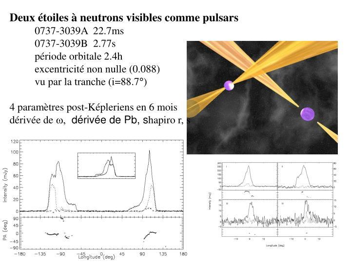 Deux étoiles à neutrons visibles comme pulsars