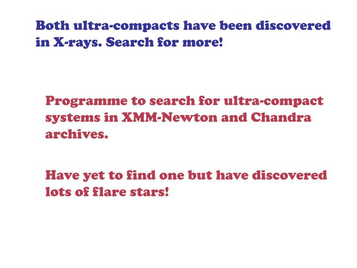 Both ultra-compacts have been discovered