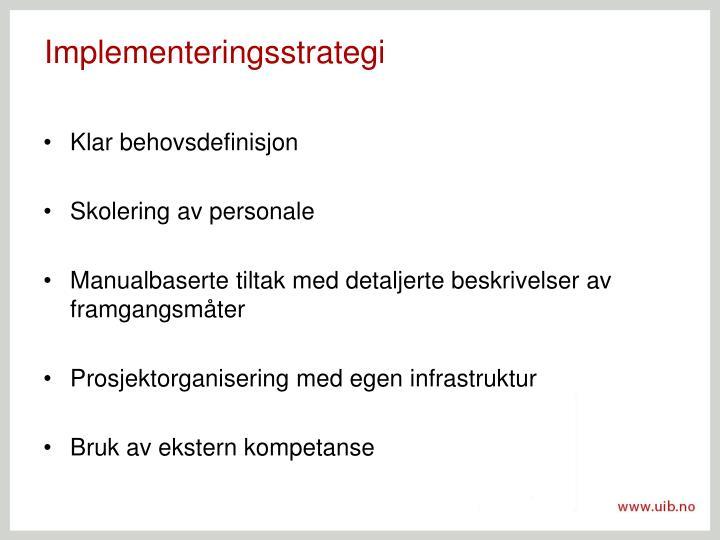 Implementeringsstrategi