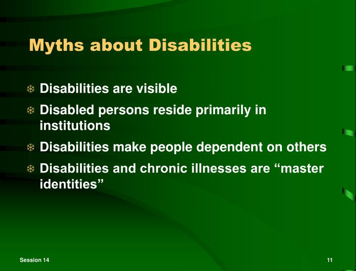 Myths about Disabilities