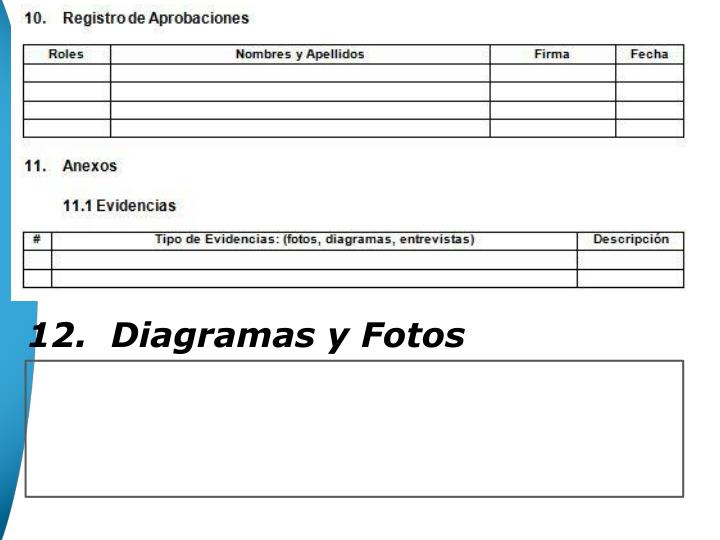 12.  Diagramas y Fotos