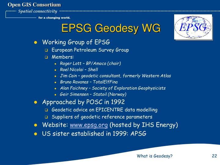 EPSG Geodesy WG