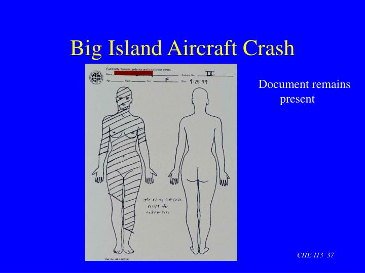 Big Island Aircraft Crash