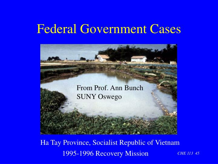 Federal Government Cases