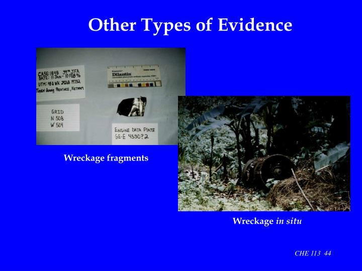 Other Types of Evidence