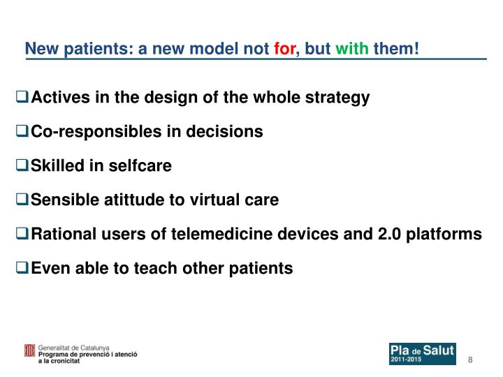 New patients: a new model not