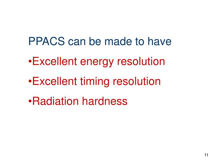 PPACS can be made to have