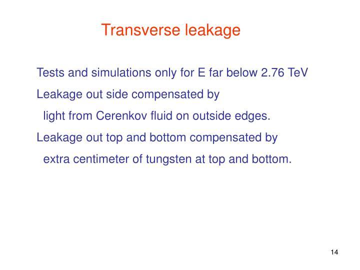 Transverse leakage