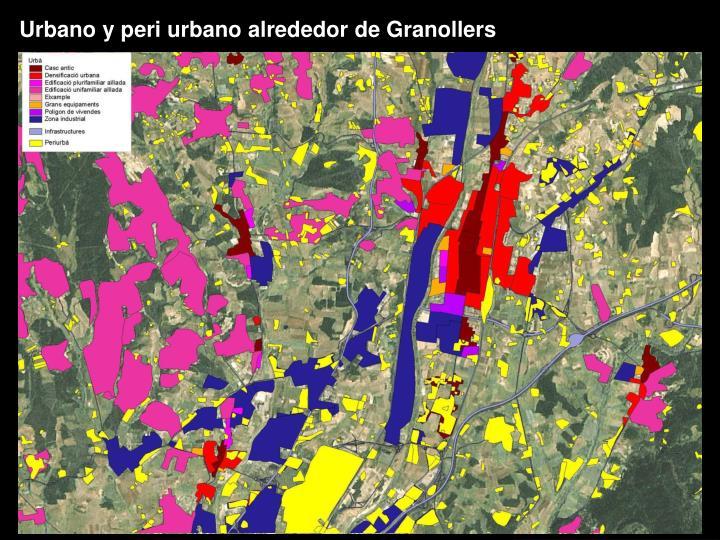 Urbano y peri urbano alrededor de Granollers