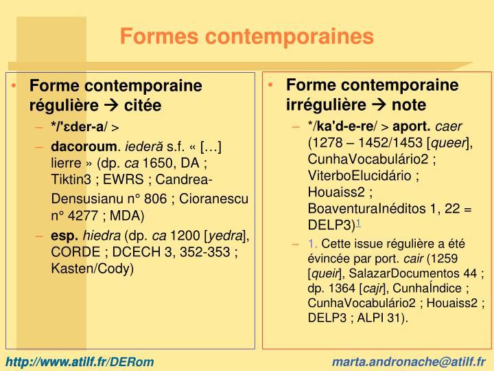 Formes contemporaines