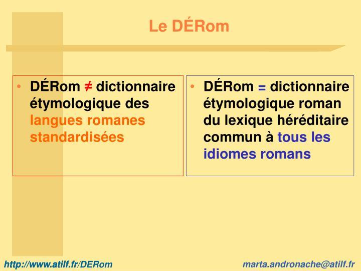 Le DÉRom