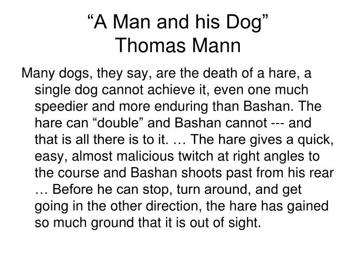 """A Man and his Dog"""