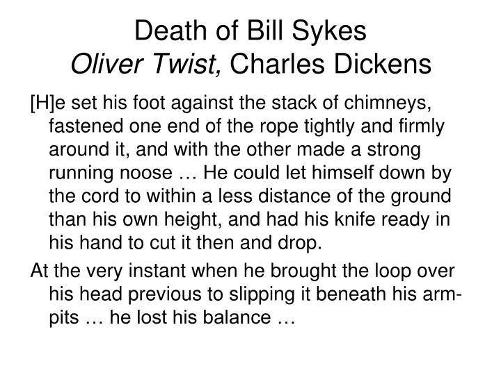 Death of Bill Sykes