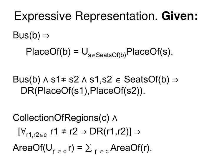 Expressive Representation.