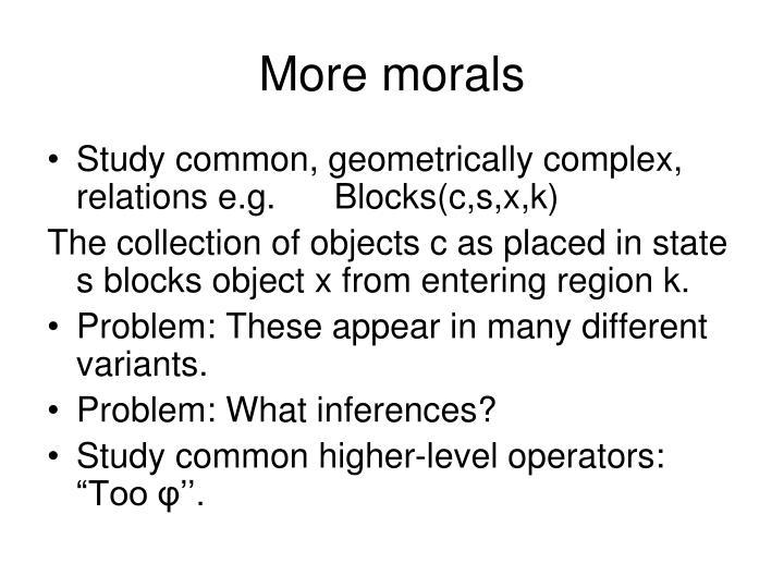 More morals