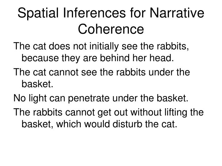 Spatial Inferences for Narrative Coherence