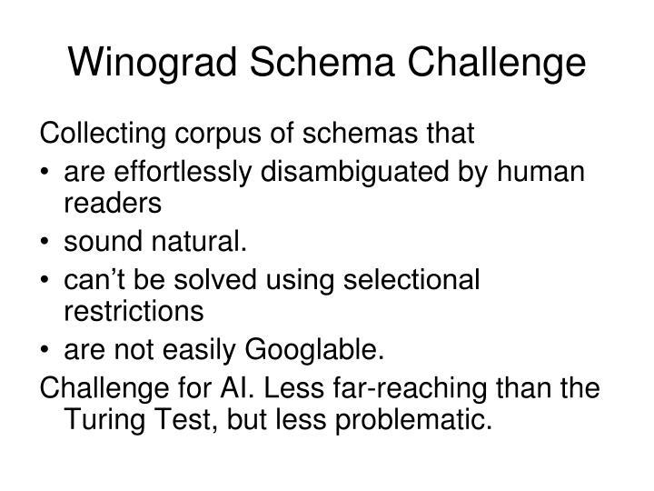 Winograd Schema Challenge