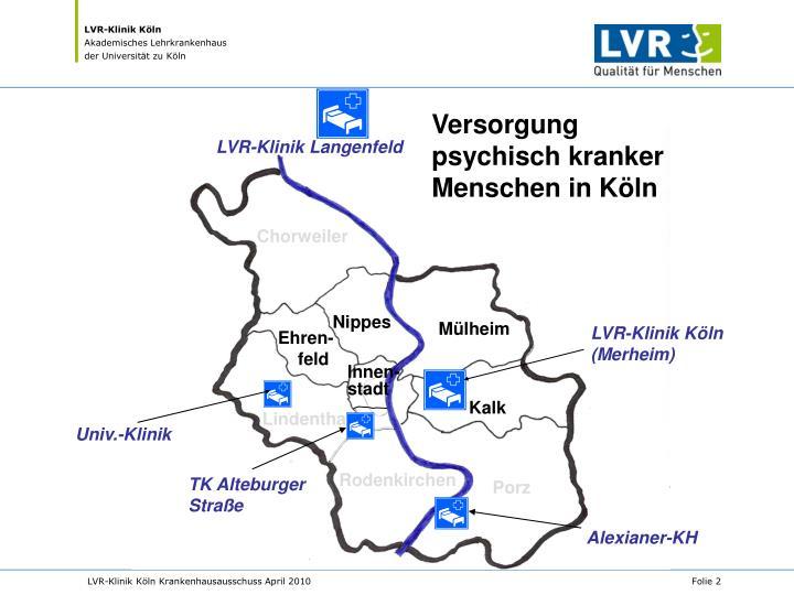 Versorgung psychisch kranker Menschen in Köln