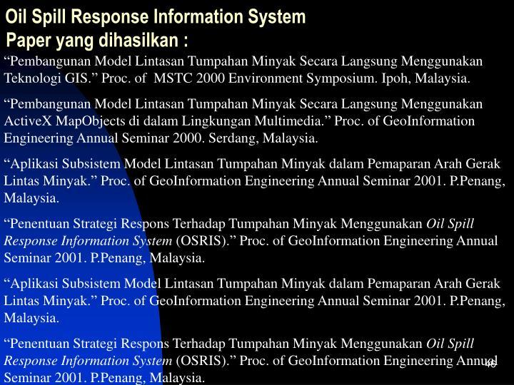 Oil Spill Response Information System