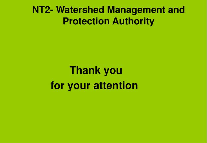 NT2- Watershed Management and Protection Authority