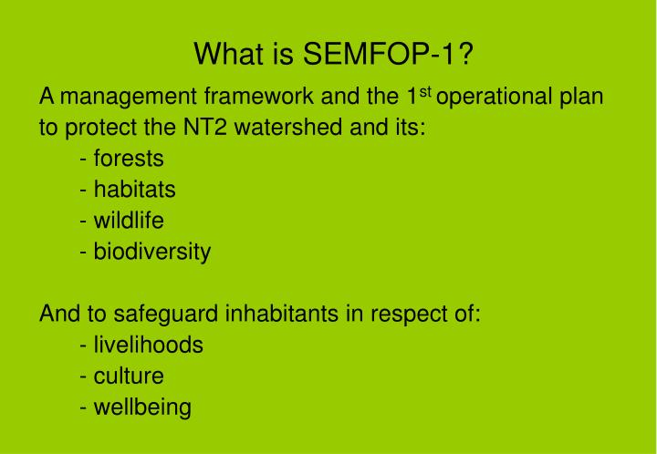What is semfop 1