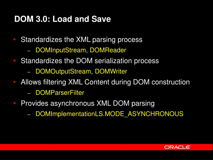 DOM 3.0: Load and Save