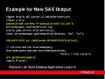 example for new sax output