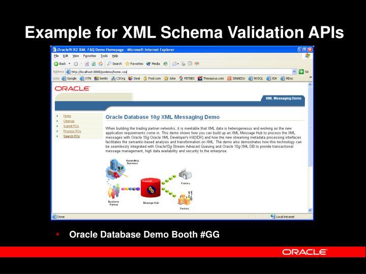 Example for XML Schema Validation APIs