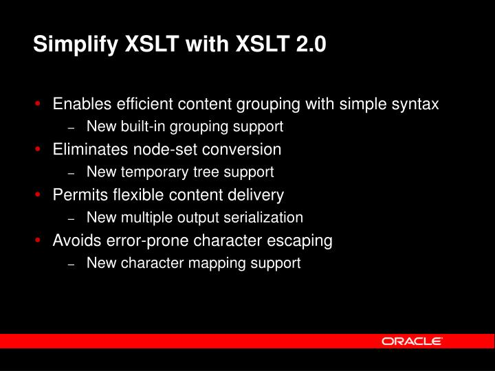 Simplify XSLT with XSLT 2.0