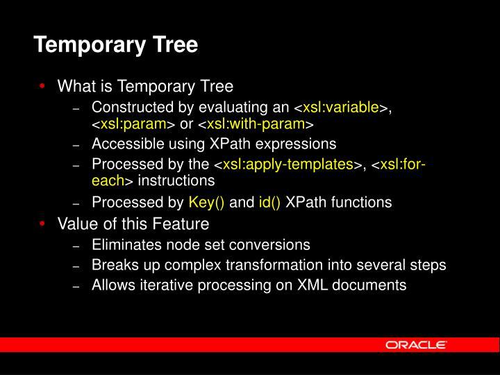 Temporary Tree