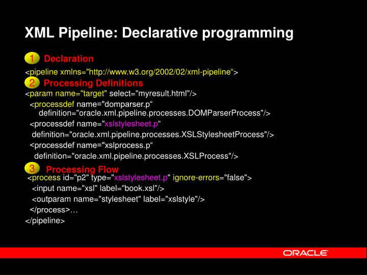 XML Pipeline: Declarative programming