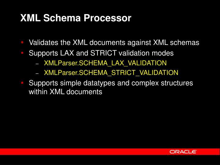 XML Schema Processor