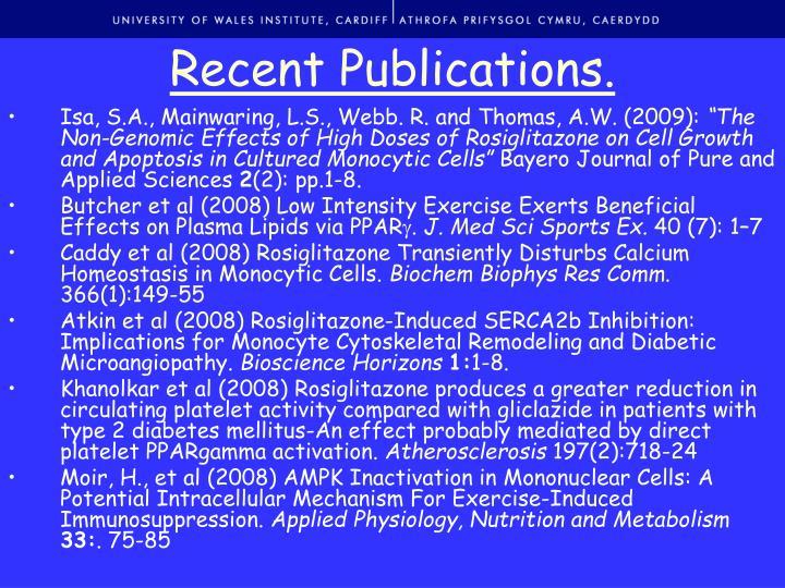 Recent Publications.