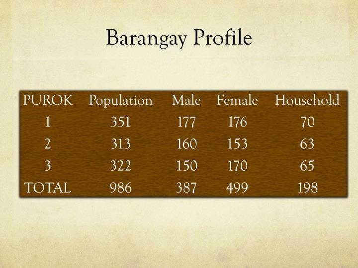 Barangay Profile