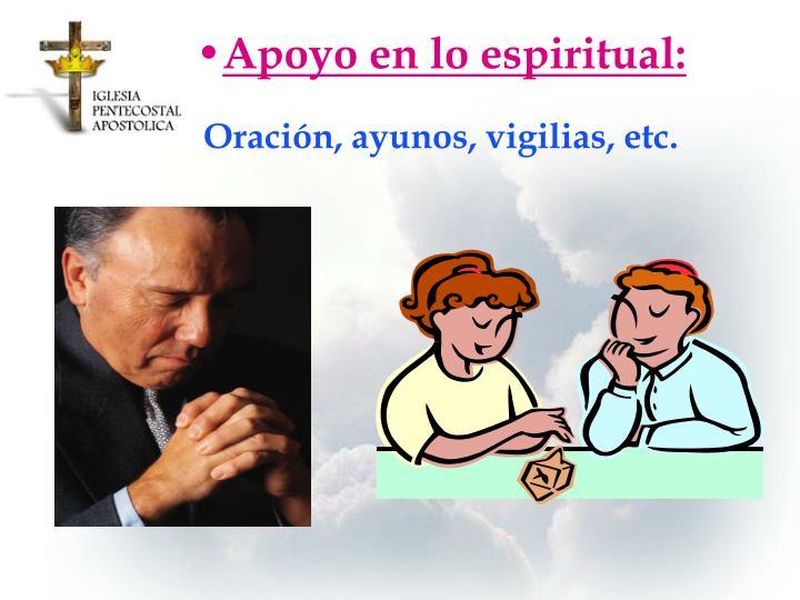 Apoyo en lo espiritual: