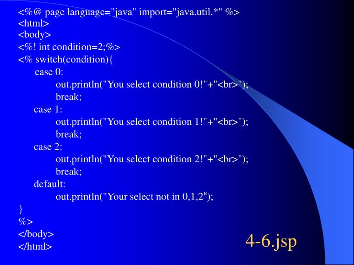 """<%@ page language=""""java"""" import=""""java.util.*"""" %>"""