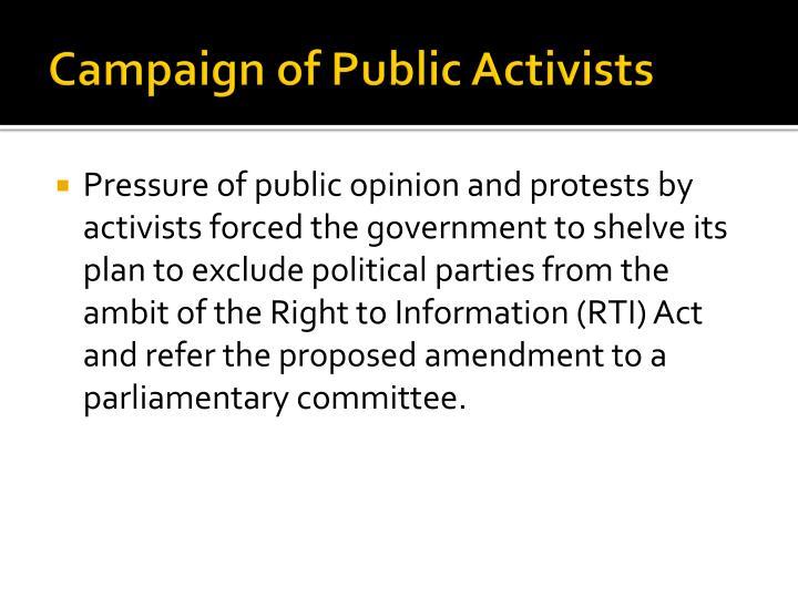 Campaign of Public Activists