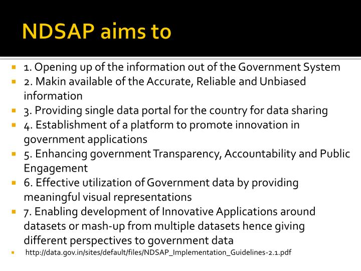 NDSAP aims to