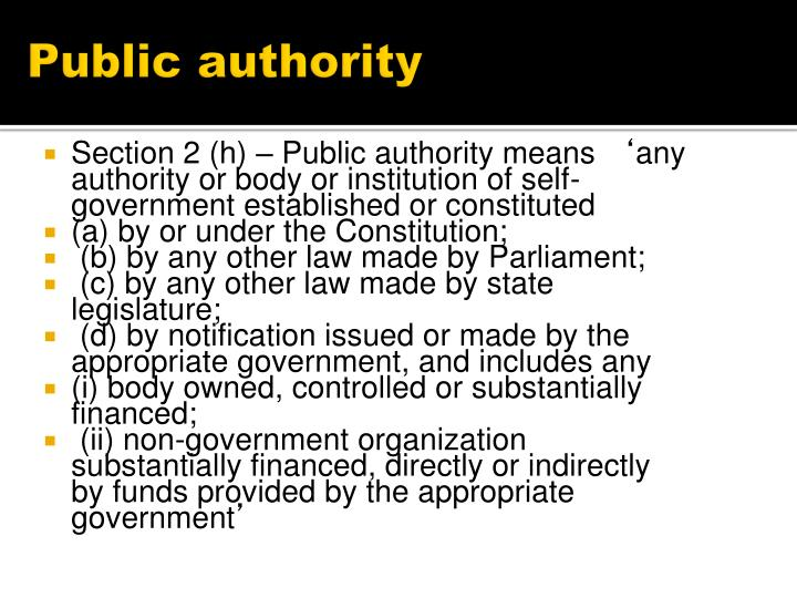 Public authority