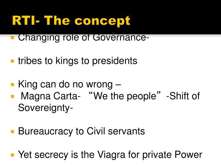 RTI- The concept