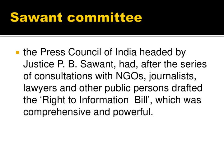 Sawant committee