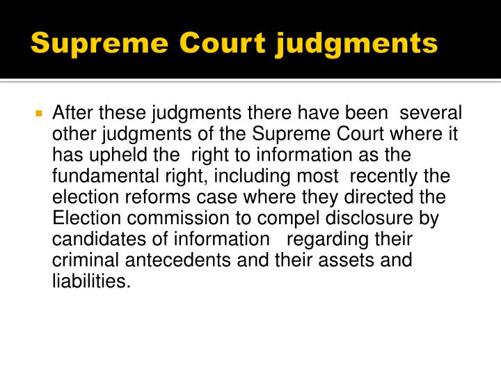 Supreme Court judgments