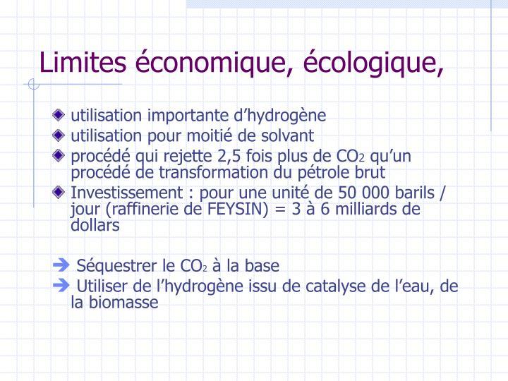 Limites économique, écologique,