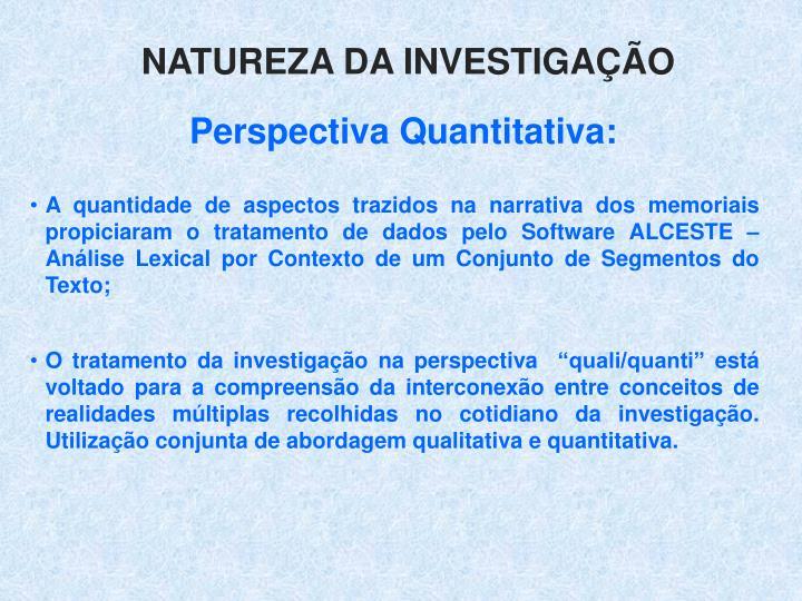 Natureza da investigao