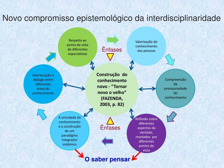 Novo compromisso epistemolgico da interdisciplinaridade