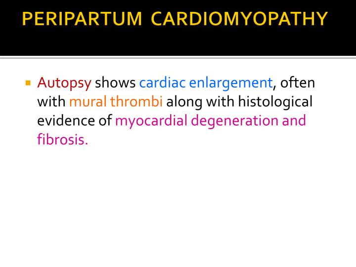 Ppt peripartum cardiomyopathy powerpoint presentation for Cardiac mural thrombi