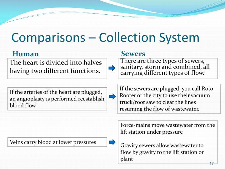 Comparisons – Collection System
