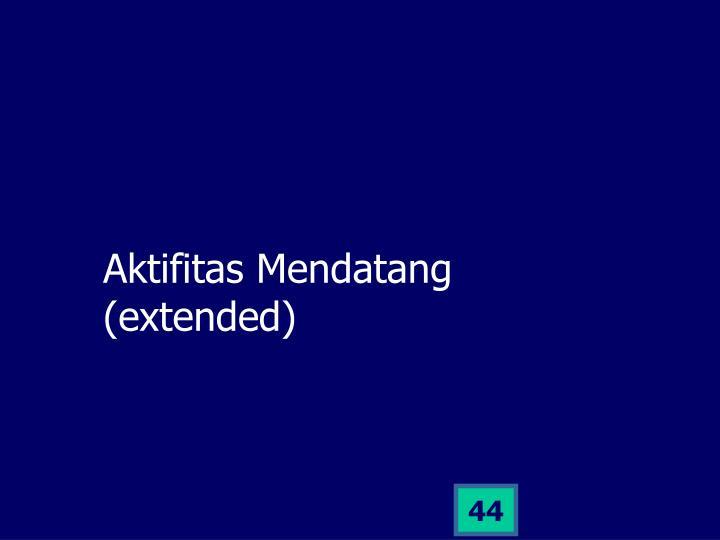 Aktifitas Mendatang (extended)